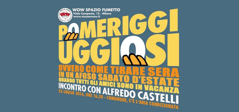 """<p>Sabato 23 luglio <a target=""""_blank"""" href=""""http://www.sergiobonelli.it/sezioni/431/creatore""""><strong>Alfredo Castelli</strong></a> sar&agrave; il protagonista di un <strong>incontro molto speciale</strong> dal titolo nel pi&ugrave; puro stile castelliano: POMERIGGI UGGIOSI, OVVERO COME TIRARE SERA IN UN SABATO D&#39;ESTATE QUANDO GLI AMICI SONO IN VACANZA. Oggi vi annoier&agrave; ALFREDO CASTELLI! Battute a parte, Alfredo Castelli non solo non &egrave; mai noioso ma soprattutto &egrave; uno degli autori meglio indicati a raccontarci le <strong>origini del &quot;Re del Terrore&quot;</strong>: oltre ad aver scritto il pi&ugrave; completo volume mai dedicato al mito di&nbsp;<strong>Fant&ocirc;mas</strong>, ha cominciato a collaborare a Diabolik nel 1964, pochissimo tempo dopo la sua creazione. Nel gennaio 1965, sulle pagine di Diabolik, &egrave; comparso il suo primo lavoro fumettistico, la serie umoristica <em><strong>Scheletrino</strong></em>; poco pi&ugrave; tardi ha cominciato a scrivere le avventure dell&#39;inafferrabile criminale, alcune delle quali, come &quot;La morte di Eva Kant&quot;, sono divenute dei classici. Soprattutto &egrave; all&#39;origine di molte idee diabolike &ldquo;fuori canone&rdquo;, dalle strisce per i quotidiani, ai racconti brevi &ldquo;localizzabili&rdquo; al &ldquo;remake&rdquo; della prima avventura. Dalla sua collaborazione con Mario Gomboli sono nate <strong>Diabetik</strong> - la prima delle molte parodie di Diabolik - e otto storie pubblicate da<em> Cosmopolitan</em>, nelle quali Eva Kant &egrave; protagonista assoluta. L&rsquo;incontro &egrave; anche l&rsquo;occasione per occuparci dei <strong>progetti futuri</strong> di Castelli: si comincia con gli albetti <strong>La citt&agrave; in equilibrio</strong>, illustrato da Torti e ambientato a Civita di Bagnoregio, per arrivare a <em><strong>Martin Myst&egrave;re incontra Zio Boris</strong></em>, il pi&ugrave; recente di una serie di fascicoli pubblicati fin dal 2003 nell&rsquo;ambit"""