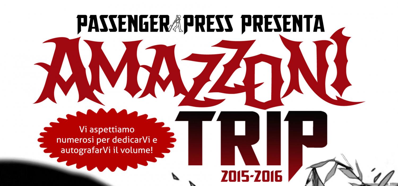 """<p><a target=""""_blank"""" href=""""http://www.christiangmarra.com/home.html""""><strong>Christian Marra,</strong></a>&nbsp;fumettista ed editore editoriale di <a target=""""_blank"""" href=""""http://passengerpress.bigcartel.com/"""">Passenger Press</a>, Alessandro Cremonesi, autore dei testi di Amazzoni, e i disegnatori <a target=""""_blank"""" href=""""http://gualandris.blogspot.it/"""">Giorgio Gualandris</a>, Gabriela Hamilton e <a target=""""_blank"""" href=""""http://nerdizzeide.blogspot.it/"""">Marianna Pescosta</a> presentano il fumetto <em><strong>Amazzoni</strong></em> pubblicato in occasione di Lucca Comics &amp; Games 2015.</p><p>&nbsp;</p><p><strong>Dynah Turncliff</strong> &egrave; un&rsquo;esploratrice e corrispondente della britannica Royal Society of London, il cui scopo &egrave; scovare e studiare la <strong>civilt&agrave; amazzone</strong>, popolo relegato in una landa in cui l&rsquo;evoluzione ha preso vie sconosciute al mondo esterno. Tra pericoli mortali e fiere preistoriche, ci addentreremo in un mondo dove solo appartenere al gradino pi&ugrave; alto della catena alimentare garantisce la sopravvivenza. <strong>Traendo spunto dalla tradizione dei fumetti neri anni Settanta</strong>, l&rsquo;ambizioso progetto di <strong>Alessandro Cremonesi</strong> (testi), <a target=""""_blank"""" href=""""http://gaetanomatruglioart.blogspot.it/""""><strong>Gaetano Matruglio</strong></a> e <strong>Marianna Pescosta</strong> (disegni) vede il coinvolgimento di ben<strong> undici team creativi</strong>, ognuno al lavoro su una parte dell&rsquo;opera. Amazzoni riprende infatti la formula editoriale del <strong>libro collettivo</strong> &ndash; gi&agrave; usata per il fortunato Racconti Indiani, sempre edito da Passenger Press, e grazie a una campagna di crownfunding su Indiegogo, gli autori sono riusciti in parte a finanziare la trasferta per presentare la storia di Dynah a Lucca 2015. Il volume<strong> autoconclusivo</strong> &egrave; in formato maxi-tascabile di ben <strong>300 pagine</strong>, con copertina disegnata"""