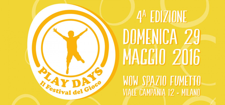 """<p>Diventato ormai un appuntamento atteso da tutte le famiglie, giunto alla sua IV edizione, quest&rsquo;anno <strong>Play Days</strong> si concentra <strong>negli spazi del Museo del Fumetto e del Parco Oreste Del Buono</strong> (Parco Ex Motta) di Viale Campania. A organizzarlo <a target=""""_blank"""" href=""""http://www.assogiocattoli.it/showPage.php?template=menu2liv&amp;id=18&amp;search=Assogiocattoli"""">Assogiocattoli</a> e <a target=""""_blank"""" href=""""http://www.pepita.it/"""">Pepita Onlus</a>, con il patrocinio del Comune di Milano e sotto l&rsquo;egida di ExpoinCitt&agrave; #MilanoaPlaceToBe. Il Festival del Gioco per tutta la famiglia &egrave; <strong>espressione del progetto &ldquo;Gioco, cibo per la mente&rdquo;</strong>, che Assogiocattoli porta avanti come propria missione etica in collaborazione con Pepita Onlus attraverso <strong>la campagna &ldquo;Non nasconderti dal gioco, nasconditi per gioco!&rdquo;</strong>. L&rsquo;iniziativa vuole sensibilizzare genitori, bambini e &ldquo;addetti ai lavori&rdquo; sull&rsquo;importanza del gioco in famiglia come percorso educativo per imparare a rispettare le regole e creare i presupposti per una convivenza serena. Partendo da una dimensione ludica e creativa si pu&ograve; far riflettere sul valore del gioco come alternativa &ldquo;meno tecnologica&rdquo; e pi&ugrave; costruttiva del &ldquo;fare&rdquo; insieme. L&rsquo;ingresso &egrave; libero e gratuito. Grazie alla <strong>collaborazione delle pi&ugrave; importanti aziende produttrici e distributrici di giocattoli</strong>, associate di Assogiocattoli, saranno messe a disposizione del pubblico <strong>gigantesche riproduzioni di celebri giochi da tavolo</strong> assieme a <strong>tantissimi altri giochi adatti ai pi&ugrave; piccini e ai pi&ugrave; grandi</strong>, per tutte le fasce di et&agrave;. Per tutta la giornata si terranno mini tornei e dimostrazioni per tutti i gusti, dai giochi adatti alle femminucce a quelli pi&ugrave; amati dai maschietti. Inoltre, grazie alla pre"""
