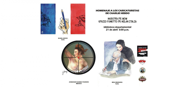 """<p>Anche WOW Spazio Fumetto partecipa al festival <strong><a href=""""https://www.facebook.com/Calicomix?pnref=story"""">Calicomix</a></strong>,&nbsp;la pi&ugrave; importante manifestazione colombiana legata al fumetto. Nelle sale della Biblioteca Jorge Garc&eacute;s Borrero &egrave; esposta <strong>una selezione della nostra mostra &quot;<a href=""""http://www.museowow.it/wow/it/siamo-tutti-charlie-2/"""">Siamo tutti Charlie</a></strong>&quot;, che racconta la storia della rivista <em>Charlie Hebdo</em> ed espone alcune delle oltre 140 vignette realizzate da autori italiani e stranieri in omaggio alle vittime dell&#39;attentato del 7 gennaio 2015.</p>"""