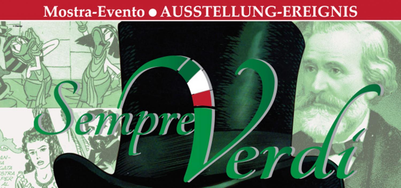 <p><strong>Dopo i successi riscossi gli scorsi anni dalle mostre &ldquo;Mozart a Strisce&rdquo;, &ldquo;Wagner a strisce&rdquo; e &ldquo;Beethoven: Bam Bam Bam Baaaam&rdquo;, l&rsquo;Associazione Musica in Aulis, in collaborazione con WOW Spazio Fumetto &ndash; Museo del Fumetto di Milano e il sostegno del Comune di Bolzano, porta alla Galleria Civica di Bolzano la mostra &ldquo;Sempre Verdi&rdquo;: un affascinante viaggio per immagini nella vita e nell&rsquo;opera di Giuseppe Verdi cos&igrave; come ce lo hanno raccontato l&rsquo;illustrazione popolare e il fumetto dalle figurine Liebig a Topolino.</strong> <strong>Luned&igrave; 13 giugno alle ore 17.30 la mostra verr&agrave; inaugurata con un concerto speciale tenuto da Andrea Bambace e Sabrina Kang, che eseguiranno celebri arie verdiane trascritte per pianoforte a 4 mani. Ingresso libero.</strong> <strong>Il percorso della mostra Sempre Verdi offre un appassionante viaggio nel tempo che si snoda attraverso la grafica elegante delle stupende figurine Liebig</strong> dedicate alle sue opere pi&ugrave; celebri (anno 1893 e 1902 provenienti dalla collezione della Filatelia Sanguinetti di Milano), <strong>fino ad arrivare al fumetto di ultima generazione con le pagine pi&ugrave; belle della storia recentemente realizzata da Carlos G&oacute;mez per le avventure di Dago</strong> (2012), nella quale il protagonista della popolare saga a fumetti &ldquo;ispira&rdquo; la musica verdiana del coro <em>Va pensiero</em> del <em>Nabucco</em>. <strong>Tra queste ideali parentesi si snoda una lunga e avvincente narrazione a fumetti e immagini che passa anche per il fantastico mondo Disney</strong>, dove nel 1979 Aida e Radam&egrave;s sulle pagine di Topolino si sono trasformati prima in Paper-Dam&egrave;s e Celest&#39;Aida (storia disegnata dal grande Pier Lorenzo De Vita e scritta da Guido Martina) per poi tornare su quelle del periodico Paperinik nel 1997 nella divertente avventura Paperinik e l&#39;indimenticabile Aida (disegni 