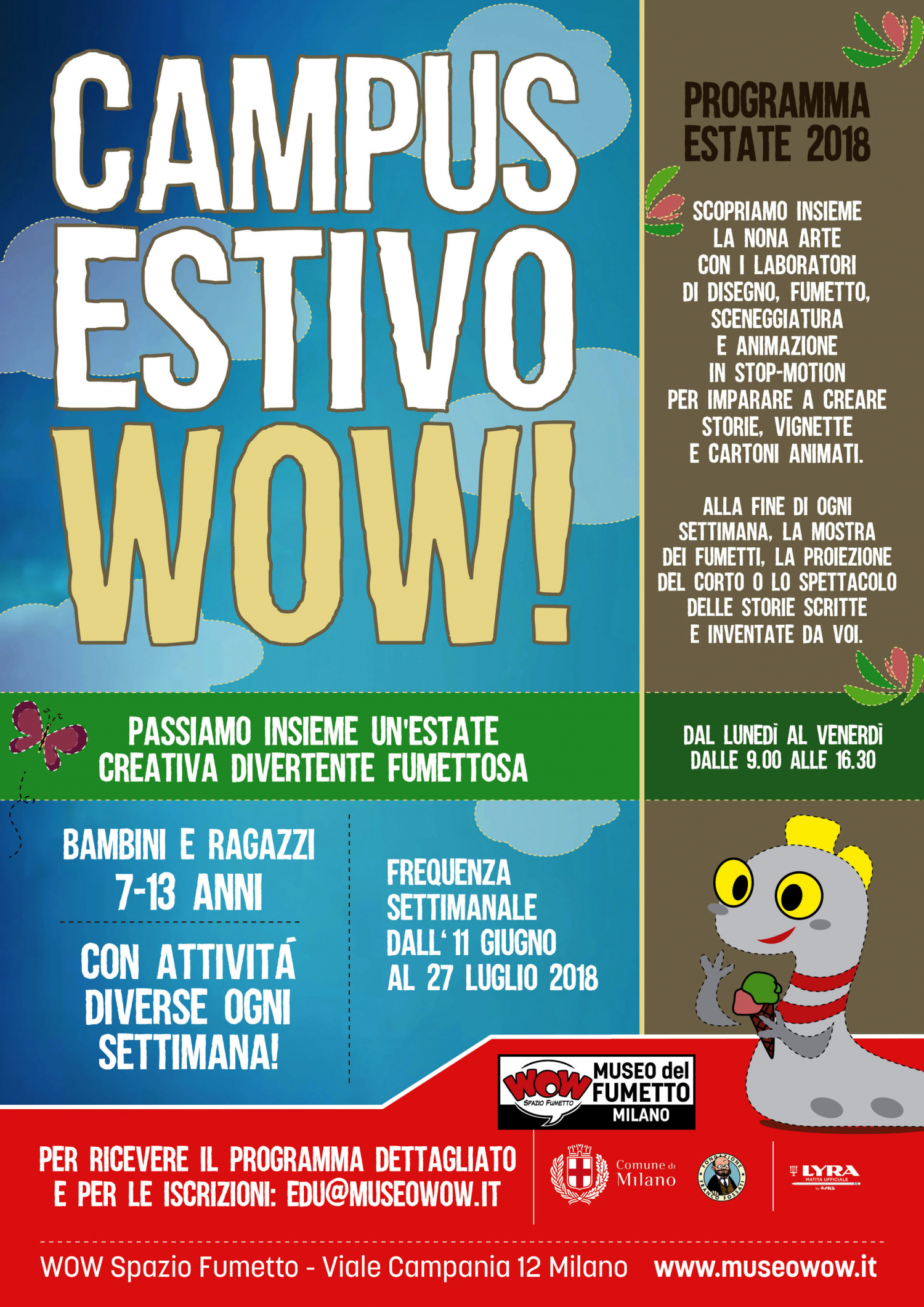 """<p>Workshop di Autoeditoria Creativa. Autore? Editore! con&nbsp;<strong>Federico Zenoni &ndash; <a target=""""_blank"""" href=""""http://senzaimpegni.altervista.org"""">Casa Editrice Libera e Senza Impegni</a></strong></p><p><strong>Periodo: dall&rsquo;11 al 15 giugno</strong> <strong>Orario: 14:00-16:00</strong> <strong>Costo: 90 euro (materiale compreso)</strong> <strong>Passo dopo passo, diventiamo autori e editori di noi stessi!</strong> Per prima cosa, il nome della tua casa editrice. Poi passiamo alle tecniche: Xerografia, ovvero: il bianco e nero; poi fumetto, testo, collages, sgorbi...&nbsp;Scegliamo il formato e i materiali riciclati. E siamo pronti a costruire il menabo&#39; (impaginazione manuale, frontespizio, colophon, introduzione, appendice, inserti, e chi pi&ugrave; ne ha pi&ugrave; ne metta). Passiamo alla stampa: tiratura minima consigliata... siamo editori! Rilegature per ogni gusto. E c&rsquo;&egrave; anche la copertina. Tutte uguali e tutte diverse! Ancora sui materiali riciclati (non spendo e aiuto il pianeta). Infine dono, baratto, vendita. Qualche informazione sul futuro dei tuoi libroidi.</p><p>Workshop di Fumetto e&nbsp;Incisione con <a target=""""_blank"""" href=""""http://alicemilani.org"""">Alice Milani</a></p><p><strong>Periodo: dal 18 al 22 giugno</strong> <strong> Orario: 14:00-17:00</strong> <strong> Costo: 100 euro (materiale compreso)</strong> Illustratrice e fumettista, specializzata in incisione, tra i fondatori del collettivo La Trama e autrice per Edizioni BeccoGiallo. <strong>Il Workshop verter&agrave; sulla tecnica dell&rsquo;incisione</strong>, legate al mondo dell&rsquo;autoproduzione. Seguendo la guida e i preziosi consigli dell&rsquo;autrice, i partecipanti creeranno una fanzine (o giornale a fumetti) della loro storia di immagini e parole, usando anche la tecnica&nbsp;della&nbsp;stampa con linoleum, rulli e inchiostri per realizzare la copertina. La matrice potr&agrave; essere riutilizzata per stampare altre copie della vostra fanzine!</p><p>Wo"""
