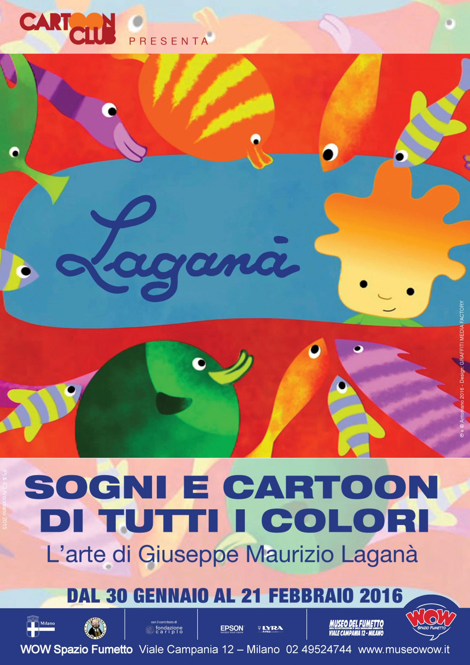 """<p>In collaborazione con <a target=""""_blank"""" href=""""http://www.cartoonclubrimini.com/""""><strong>Cartoon Club Rimini</strong></a>, presentiamo una straordinaria mostra dedicata al grande animatore, artista e regista milanese <strong>Giuseppe Maurizio Lagan&agrave;</strong>, scomparso lo scorso 3 gennaio. L&#39;esposizione,&nbsp;gi&agrave; allestita la scorsa estate presso il Museo della Citt&agrave; di Rimini, &egrave; stata <strong>supervisionata personalmente da Lagan&agrave;</strong> perch&eacute; rappresentasse con completezza la propria vena artistica e comprende i <strong>bozzetti e materiali originali</strong> di oltre 100 lavori realizzati per l&rsquo;editoria, il mondo della comunicazione e della pubblicit&agrave; e il cinema di animazione con bellissimi <strong>omaggi</strong> di autori e colleghi come Bruno Bozzetto, Osvaldo Cavandoli, Massimo Rotundo e Romano Scarpa, il&nbsp;grande artista Disney a cui &egrave; dedicata la personale che negli stessi giorni &egrave; allestita al primo piano del Museo. La mostra &egrave; a cura di <strong>Federico Fiecconi</strong> con <strong>Sabrina Zanetti</strong>, vicepresidente <a target=""""_blank"""" href=""""http://www.asifaitalia.org/"""">ASIFA Italia</a> e Direttore Artistico del Cartoon Club di Rimini e gode del patrocinio delle associazioni <strong>Animation Italy</strong> e <strong>ASIFA Italia</strong>. L&rsquo;esposizione attraversa il percorso artistico di Giuseppe Maurizio Lagan&agrave; nei suoi aspetti pi&ugrave; diversi: una <strong>carriera&nbsp;straordinaria</strong> per creativit&agrave;, inventiva e poetica, con una particolare capacit&agrave; di parlare ai pi&ugrave; piccoli. Il lavoro di Lagan&agrave; si trova di frequente connesso a doppio filo al caposcuola milanese <strong>Bruno Bozzetto</strong>, di cui &egrave; stato collaboratore di lunga data contribuendo con <strong>vari apporti creativi</strong> (animatore, art director, autore di scenografie) ai tre storici lungometraggi West and Soda, VIP - Mio fratell"""