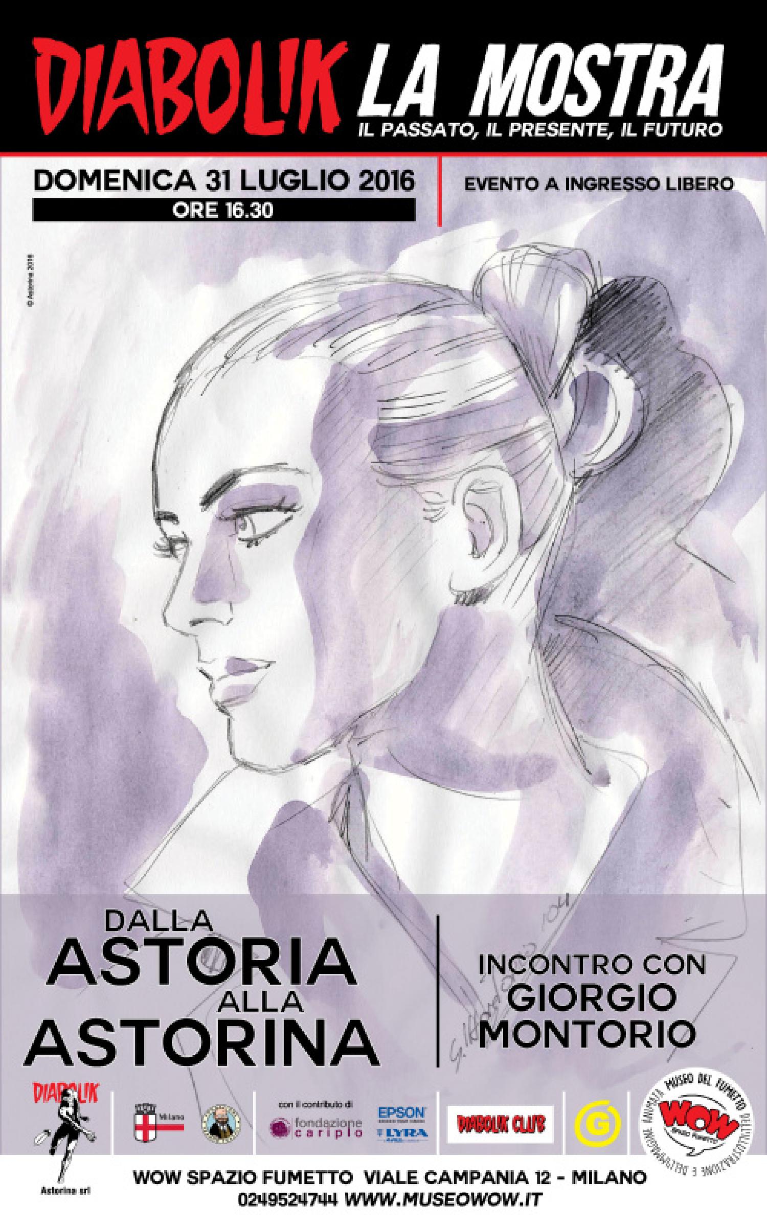 """<p><strong>Domenica 31 luglio</strong>, ultimo giorno di apertura (prima della pausa estiva) della <a target=""""_blank"""" href=""""http://www.museowow.it/wow/diabolik-in-mostra/"""">mostra dedicata a Diabolik</a>, alle <strong>16,30</strong> sar&agrave; possibile incontrare <strong>Giorgio Montorio</strong>, artista di punta prima della casa editrice di Gino Sansoni e poi di Astorina. Autore di <em><strong>Alboromanzo Vamp</strong></em>, di molte storie pubblicate sulle pagine della rivista <em>Horror</em> e creatore grafico di Teddy Bobb, <strong>ha realizzato le chine di oltre 100 numeri di <em>Diabolik</em></strong>. L&rsquo;incontro, ideato con <strong>Lorenzo Altariva</strong> e il <a target=""""_blank"""" href=""""http://www.diabolikclub.it/""""><strong>Diabolik Club</strong></a>, &egrave; l&rsquo;occasione per scoprire la storia di questo diaboliko disegnatore protagonista di una bella biografia pubblicata dalle Edizioni Cammeo di Bologna. <strong>GIORGIO MONTORIO &ndash; UNA MATITA DESTINATA AL FUMETTO</strong>, firmata da Lorenzo Altariva, Alessandro e Paolo Forni, &egrave; un volume ricco di documenti, aneddoti e cronologie che permettono di scoprire le molte facce di Giorgio Montorio.</p>"""