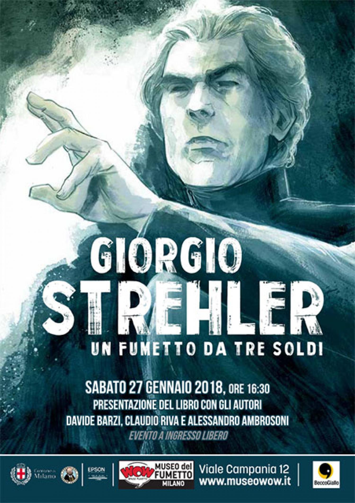<p><strong><em>Giorgio Strehler &ndash; Un fumetto da tre soldi</em> (edizioni BeccoGiallo)&nbsp;racconta la storia dell&rsquo;incontro tra due geni del teatro europeo: Giorgio Strehler, giovane regista ambizioso, e Bertolt Brecht, drammaturgo di fama mondiale.</strong> I due s&rsquo;incontrano a Berlino Est nell&rsquo;ottobre 1955, perch&eacute; il regista italiano ha l&rsquo;urgenza di sottoporre ventisette domande al grande scrittore tedesco. L&rsquo;oggetto delle domande &egrave; L&rsquo;opera da tre soldi, la commedia pi&ugrave; famosa di Brecht, che Strehler vuole portare sul palcoscenico del Piccolo Teatro di Milano, prima importante messa in scena in Italia di un testo brechtiano. <strong>Il libro narra la genesi dello spettacolo.</strong> Dall&rsquo;idea iniziale sviluppata nell&rsquo;ironico confronto berlinese tra i due artisti, alla costruzione del cast, dalle faticose prove cantate e recitate, nella spasmodica ricerca di mettere in pratica la recitazione epica teorizzata da Brecht. <strong>La storia narra le vicende umane e artistiche di indimenticabili personalit&agrave; del teatro e dello spettacolo</strong>: Giorgio Strehler e Paolo Grassi, Mario Carotenuto e Milly, Tino Carraro e Gino Negri, lo stesso Bertolt Brecht, che per la prima volta assiste a una sua commedia in Italia nella trionfale messa in scena del 10 febbraio 1956 sul palcoscenico del Piccolo, primo teatro pubblico italiano. <strong>Sullo sfondo c&rsquo;&egrave; Milano, livida e gelida a causa di un inverno eccezionalmente freddo, quello del 1956, con &ldquo;la nevicata del secolo&rdquo;</strong> che si alterna a giornate di luminoso sole, e con i milanesi raggelati dal clima polare di quei giorni. Via Rovello e il Piccolo Teatro, il Duomo e la Galleria, via Vittorio Emanuele e Piazza Cordusio, l&rsquo;Hotel Manin e lo Zoo dei Giardini di Porta Venezia, via Manzoni e il Teatro Odeon, fanno da scenografia a una storia profondamente milanese ma di respiro internazionale. Il libro, che ha 