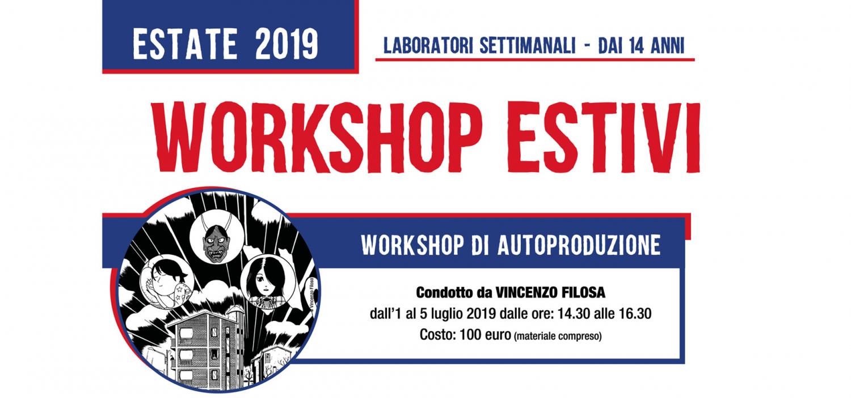 <p>Durante l&#39;estate vi aspettano i workshop settimanali tematici di WOW Spazio Fumetto: per imparare a conoscere il fumetto, disegnarlo e raccontare attraverso i suoi linguaggi.</p><p><strong>WORKSHOP DI AUTOPRODUZIONE</strong> <strong>Condotto da VINCENZO FILOSA</strong> <strong>Periodo: 1-5 luglio 2019</strong> <strong>Orario: 14.30-16.30</strong> <strong>Costo: 100 euro (materiale compreso)</strong> Vincenzo Filosa, fumettista e traduttore dal giapponese, ci guider&agrave; alla creazione di una fanzine (o giornale a fumetti) interamente autoprodotta, in cui racconteremo attraverso il fumetto, esplorando le tecniche e le modalit&agrave; con cui realizzare la propria storia di immagini e parole. Alla fine del laboratorio ciascun partecipante avr&agrave; prodotto la sua fanzine, un mezzo che permette il collegamento tra individuo e libert&agrave; di espressione, in cui raccontare le proprie passioni e le proprie esperienze. <strong>WORKSHOP DI FUMETTO PER STOMACI FORTI</strong> <strong>Condotto da IVAN HURRICANE</strong> <strong>Periodo: 8-12 luglio </strong> <strong>Orario 14.30-16.30</strong> <strong>Costo: 100 euro (materiale compreso)</strong> Volete disegnare fumetti ma non sapete da dove cominciare? Il workshop per Stomaci Forti &egrave; ci&ograve; che fa per voi! Scoprite come dare vita a mille nuovi personaggi, come inventare storie incredibili, mondi immaginari e universi impossibili. Deformiamo le anatomie, stilizziamo, cambiamo punto di vista per dare sfogo alle fantasie pi&ugrave; recondite insieme a Ivan Manuppelli, in arte Hurricane, ispirandoci alla scena fumettistica underground americana con un linguaggio vicino al grottesco e al caricaturale. <strong>WORKSHOP DI ILLUSTRAZIONE MANGA</strong> <strong>Condotto da SABRINA SALA</strong> <strong>Periodo: 15-19 luglio</strong> <strong>Orario 14.30-16.30</strong> <strong>Costo: 100 euro (materiale compreso)</strong> Durante il workshop impareremo a realizzare delle illustrazioni in stile manga. Affront