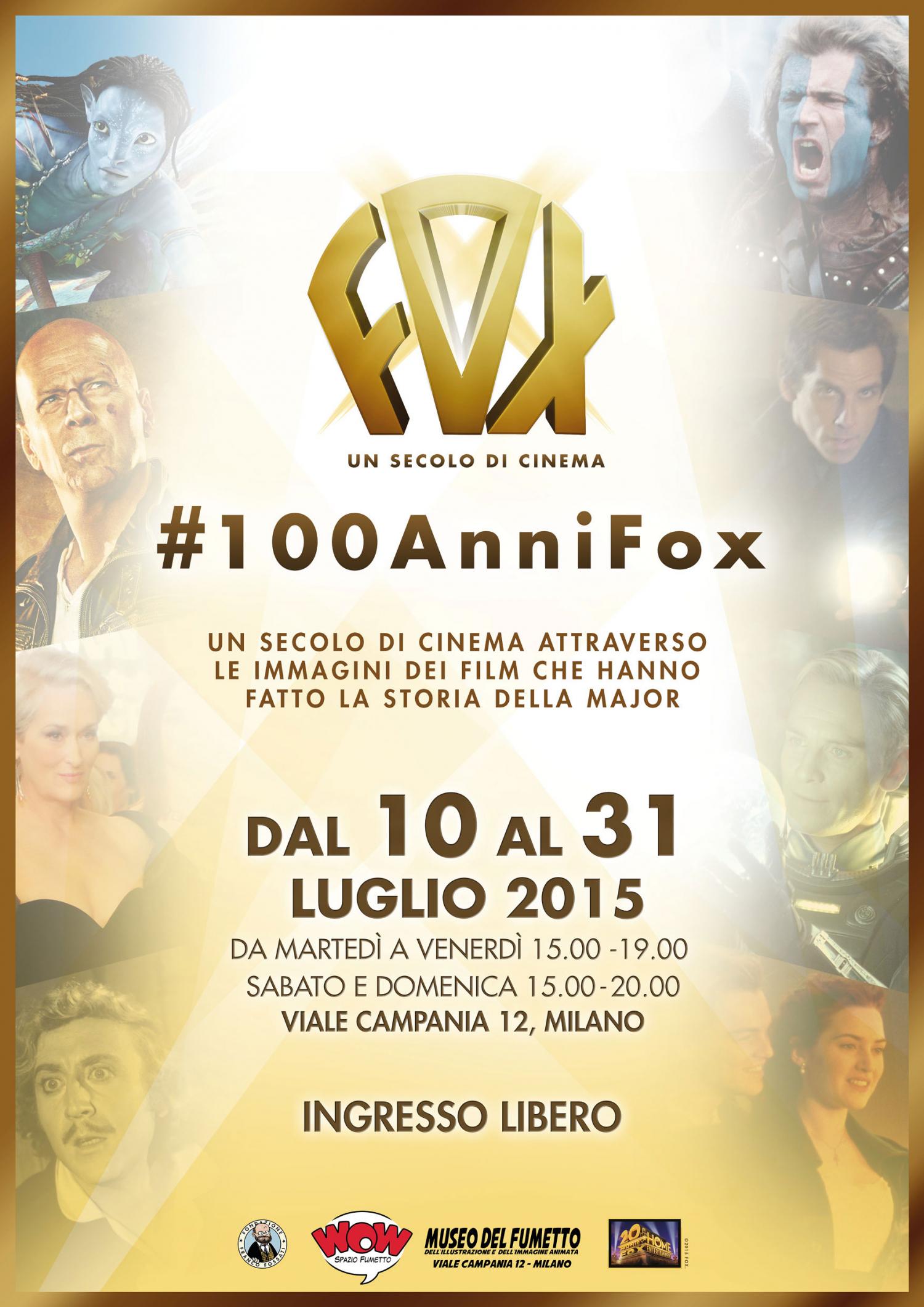 <p>Per festeggiare i suoi primi 100 anni, dal 10 luglio al 31 luglio, <strong>20th Century Fox</strong> <strong>Home Entertainment</strong> allestisce la mostra #100AnniFox: un percorso fotografico con immagini di scena e di backstage, per <strong>un suggestivo viaggio tra i dietro le quinte delle pi&ugrave; grandi produzioni cinematografiche</strong> della Major.&nbsp;L&rsquo;inaugurazione di #100AnniFox si svolge gioved&igrave; 9 luglio a partire dalle ore 18.o0 con&nbsp;<strong>un&rsquo;esposizione tematica dedicata agli X-Men</strong> e l&rsquo;anteprima di alcuni&nbsp;contenuti di&nbsp;<strong>X-MEN GIORNI DI UN FUTURO PASSATO: THE ROGUE CUT</strong>, disponibile solo in Blu-ray, DVD e Digital HD dal 13 Luglio.</p><p><strong>Era il 1915 quando fu fondata la Fox Film Corporation</strong>, dando vita a <strong>uno dei pi&ugrave; grandi colossi della cinematografia internazionale</strong>, che vanta oggi un ampio catalogo di successi indimenticabili. Dal 10 al 31 luglio, per festeggiare i suoi primi 100 anni, la 20th Century Fox allestisce una mostra presso WOW Spazio Fumetto &ndash; Museo del Fumetto, dell&rsquo;Illustrazione e dell&rsquo;Immagine animata di Milano: un percorso fotografico con immagini di scena e di backstage, per un suggestivo viaggio tra i dietro le quinte delle pi&ugrave; grandi produzioni cinematografiche della Major.Una mostra emozionante che attinge dagli archivi della Major e che celebra alcuni tra i film pi&ugrave; significativi, amati e premiati della storia di 20th Century Fox, un secolo di cinema che ha fatto sognare, ridere e commuovere il pubblico tutto il mondo e che oggi &egrave; possibile rivedere in Blu-ray, DVD e Digital HD, nei principali store digitali.</p><p>Dai classici intramontabili, come <strong>Cleopatra</strong>, <strong>Tutti Insieme Appassionatamente</strong> e <strong>Frankenstein Junior</strong>, all&rsquo;azione adrenalinica di <strong>Die Hard</strong>, passando per <strong>Alien</strong> di Ridley Scott, fino ad 