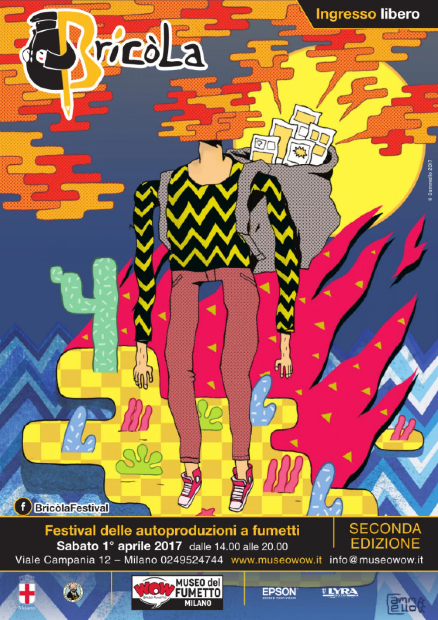 """<p><strong>Sabato 1&deg;&nbsp;aprile WOW Spazio Fumetto, il Museo del Fumetto di Milano, apre di nuovo le porte al mondo del fumetto indipendente e autoprodotto organizzando un festival dedicato a chi, non contento di leggere soltanto i fumetti, se li disegna e pubblica da solo.</strong> Si chiamava <strong>Bric&ograve;la</strong> la borsa usata in passato dai contrabbandieri lombardi nell&rsquo;attraversamento di Alpi e laghi, per portare dalla Svizzera quelle merci che in Italia non si potevano trovare. Bricola &egrave; anche il nome del festival milanese dedicato alle <strong>autoproduzioni a fumetti</strong>, che servir&agrave; a portare al&nbsp;pubblico che frequenta WOW Spazio Fumetto quelle produzioni originali che non &egrave; facile incontrare altrove. <strong><a target=""""_blank"""" href=""""http://www.museowow.it/wow/bricola-festival-delle-autoproduzioni-a-fumetti/"""">Dopo la prima edizione dell&#39;anno scorso</a>, torna sabato 1&deg; aprile</strong> il festival con cui WOW Spazio Fumetto vuole portare l&rsquo;attenzione sulla produzione pi&ugrave; originale e vivace che abbia visto luce negli ultimi anni, concentrandosi sull&rsquo;Italia e in particolare sulla nostra citt&agrave;, Milano. L&#39;illustrazione della <strong>locandina</strong> di quest&#39;anno &egrave; stata realizzata appositamente per il festival da <strong><a target=""""_blank"""" href=""""http://cammelloput.tumblr.com/"""">Cammello</a></strong>. <strong>Dalle 14:00&nbsp;le autoproduzioni invaderanno il piano terra del museo del fumetto</strong>. <strong>L&rsquo;ingresso sar&agrave; libero</strong> per tutti i visitatori, che potranno trovare stand di vendita e disegno degli autori e dei collettivi di autoproduzione. <strong>Saranno presenti durante tutto il pomeriggio <a target=""""_blank"""" href=""""http://www.amiantocomics.com/"""">Amianto Comics</a>,&nbsp;<a target=""""_blank"""" href=""""http://attaccapannipress.tictail.com/"""">Attaccapanni Press</a>,&nbsp;</strong><strong><a target=""""_blank"""" href=""""http://cammelloput.tumblr."""
