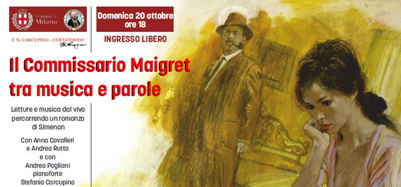 """<p><strong>In occasione del finissage della mostra <a target=""""_blank"""" href=""""http://www.museowow.it/wow/il-commissario-maigret-carcupino-in-mostra/"""">Il Commissario Maigret nell&#39;arte di Carcupino</a>, WOW Spazio Fumetto ospita un evento con letture e musica dal vivo sulle tracce dei romanzi di Simenon.</strong> Il concerto-spettacolo, organizzato dall&#39;Associazione FN Carcupino, vedr&agrave; la partecipazione di Anna Cavalleri, Andrea Rutta, Andrea Pogliani (pianoforte), Stefania Carcupino (fisarmonica) e Silvia Soave (voce).</p>"""