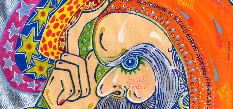 <p><strong>Matteo Guarnaccia &egrave; una delle figure chiave dell&rsquo;arte visionaria contemporanea. Anticipatore di trend, creatore di immagini suggestive, ipnotiche e magiche, e soprattutto dotato di una rara capacit&agrave; di comunicare esperienze e visioni senza filtri.</strong><br /><strong>WOW Spazio Fumetto propone &ndash; per la prima volta a Milano &ndash; una mostra antologica che ripercorre la carriera di questo artista: una vera festa per gli occhi e le menti votate all&rsquo;immaginario pop, attraverso un&rsquo;accurata selezione della sua opera grafica dagli anni Settanta a oggi.</strong></p><p>Il percorso espositivo parte dalla leggendaria rivista psichedelica <strong>Insekten Sekte</strong>, da lui fondata appena quindicenne nel 1969 (una raccolta completa &egrave; oggi conservata all&rsquo;Universit&agrave; di Yale), alle tavole per il libro cult &ldquo;<strong>Quelli che Milano</strong>&rdquo; (2010), passando per i disegni dedicati alla storia della moda realizzati negli ultimi anni (alcuni dei quali utilizzati dal brand Vivienne Westwood). Saranno presenti anche alcuni esempi degli intricati <strong>disegni a tema filosofico spirituale</strong> diventati il suo &ldquo;marchio di fabbrica&rdquo;. Non mancher&agrave; una selezione delle molte <strong>pubblicazioni</strong>, dei <strong>libri</strong> e dei <strong>poster</strong> fatti per promuovere i concerti di rockband (dai The Byrds ai Timoria) che hanno scandito una carriera particolarmente feconda.<br /><strong>Pittore, designer, scrittore, critico di costume, attivista culturale</strong> internazionalmente riconosciuto, <strong>Matteo Guarnaccia ha spesso incrociato il suo percorso con il fumetto</strong>, prima sovvertendone i canoni, come caposcuola della corrente underground, pubblicando su riviste controculturali e mainstream (linus, Rolling Stone, Il Mago), in seguito &ndash; dopo averne sapientemente elaborato i segni &ndash; traghettandone la sensibilit&agrave; pop nelle sue oper