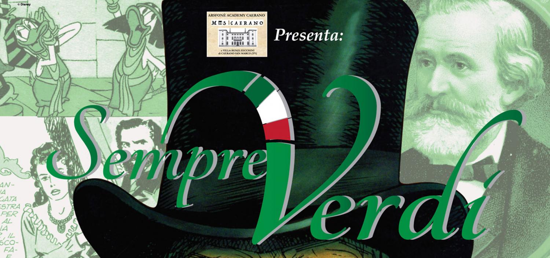 """<p><strong>In occasione dello svolgimento delle <a target=""""_blank"""" href=""""http://www.villabenzizecchini.it/evento/arsfone-academy/"""">Masterclasses dell&rsquo;Arsfon&eacute; Academy Caerano</a>, l&rsquo;Associazione MusiCaerano, in collaborazione con WOW Spazio Fumetto &ndash; Museo del Fumetto di Milano, presenta la mostra &ldquo;<a target=""""_blank"""" href=""""http://www.villabenzizecchini.it/evento/sempre-verdi-il-mito-di-giuseppe-verdi-a-fumetti/"""">Sempre Verdi</a>&rdquo;</strong>: un affascinante viaggio per immagini nella vita e nell&rsquo;opera di Giuseppe Verdi cos&igrave; come ce l&rsquo;hanno raccontato l&rsquo;illustrazione popolare e il fumetto dalle figurine Liebig a Topolino. La mostra, allestita negli spazi di Villa Benzi Zecchini, curata da <strong>Enrico Ercole</strong>, &egrave; realizzata con il sostegno del <a target=""""_blank"""" href=""""http://www.comune.caerano-di-san-marco.tv.it/it/home.html""""><strong>Comune di Caerano San Marco</strong></a> e della <a target=""""_blank"""" href=""""http://www.villabenzizecchini.it/""""><strong>Fondazione Villa Benzi Zecchini</strong></a>. <strong>Inaugurazione marted&igrave; 9 agosto 2016 alle ore 20.45 con un concerto dei pianisti Andrea Bambace e Sabrina Kang, che intratterranno i presenti eseguendo i pi&ugrave; amati temi di Giuseppe Verdi trascritti per pianoforte a 4 mani</strong>. <strong>Il percorso della mostra Sempre Verdi offre un appassionante viaggio nel tempo che si snoda attraverso la grafica elegante delle stupende figurine Liebig</strong> dedicate alle sue opere pi&ugrave; celebri (anno 1893 e 1902 provenienti dalla collezione della Filatelia Sanguinetti di Milano), <strong>fino ad arrivare al fumetto di ultima generazione con le pagine pi&ugrave; belle della storia recentemente realizzata da Carlos G&oacute;mez per le avventure di Dago</strong> (2012), nella quale il protagonista della popolare saga a fumetti &ldquo;ispira&rdquo; la musica verdiana del coro <em>Va pensiero</em> del <em>Nabucco</em>. <strong>Tra queste ide"""