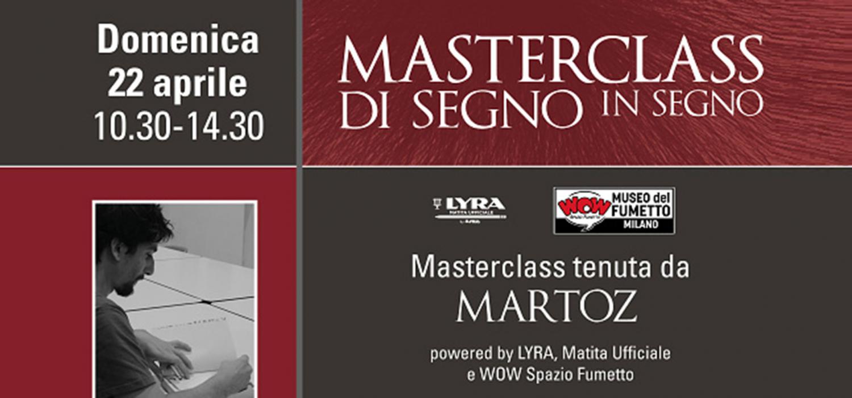 """<p><strong>Domenica 22 aprile, dalle 10.30 alle 14.30&nbsp;MasterClass condotta da <a target=""""_blank"""" href=""""http://www.canicola.net/autori/martoz/"""">Martoz</a> </strong>Astro nascente del fumetto italiano, vincitore degli importanti premi Micheluzzi e Boscarato, il suo segno richiama l&rsquo;astrattismo, il cubismo di Pablo Picasso: volti, figure e paesaggi squadrati si muovono sullo sfondo con espressivit&agrave;. Un percorso suggestivo alla scoperta del proprio tratto distintivo e del proprio segno, attraverso la matita e l&rsquo;intuito. <strong>Martoz</strong> è nato ad Assisi nel 1990. Fumettista, illustratore e street artist è attivo nell&rsquo;ambito dell&rsquo;autoproduzione sia con progetti personali (Parade, Crisma) che collaborazioni (B Comics, Squame, Lucha Libre, Inuit, Hoochie Coochie). Nel 2015 realizza <em>Remi Tot in STUNT</em>, il suo primo libro a fumetti per MalEdizioni. Seguono <em>Amore di Lontano</em> (2016), il libro per bambini <em>La mela mascherata</em> (2017) - entrambi per Canicola Edizioni - e <em>Il cacciatore Gracco</em> (Coconino Press, 2017). Come illustratore collabora con Illustratore Italiano e Associazione Illustri. Ha realizzato murales per diversi festival e associazioni. Ha esposto i suoi lavori a Los Angeles, New York, Parigi, Mosca, Napoli.</p>"""