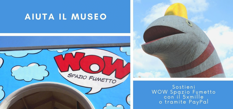 """<p>Volete sostenere WOW Spazio Fumetto?</p><p>&nbsp;</p><p>Potete farlo&nbsp;attraverso vari modi: per esempio acquistando la <strong><a target=""""_blank"""" href=""""http://www.museowow.it/eventi/WOW+CARD/480"""">WOW Card</a></strong>, la tessera che permette l&#39;entrata al nostro museo per un anno con sconti dedicati e altri vantaggi, acquistabile al costo di 25 euro scrivendo a <a href=""""mailto:bookshop@museowow.it"""">bookshop@museowow.it</a>.</p><p><br />&Egrave; possibile effettuare donazioni tramite <strong>PayPal</strong> (opzione &quot;invio ad amici&quot;) all&#39;indirizzo <a href=""""mailto:fondazione@fumetto.org"""">fondazione@fumetto.org</a>, o <a target=""""_blank"""" href=""""https://www.paypal.com/paypalme/museowow"""">a questo link</a>, con il messaggio &quot;Auguri WOW&quot;. La donazione non comporta costi aggiuntivi.</p><p><br />Si pu&ograve; infine devolvere il <strong>5xmille</strong> a favore della <strong>Fondazione Franco Fossati</strong>, che gestisce il Museo del Fumetto: scegliendo il riquadro &quot;Sostegno del volontariato e delle altre organizzazioni non lucrative di utilit&agrave; sociale&quot; e indicando il codice fiscale della Fondazione 97460830157.</p><p>&nbsp;</p>"""